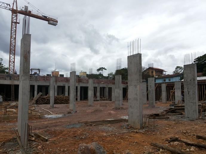 Fundações para execução da laje da área de lazer - Fase 02