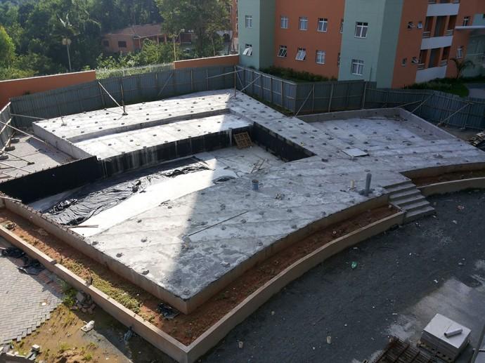 Conclusão da impermeabilização da piscina