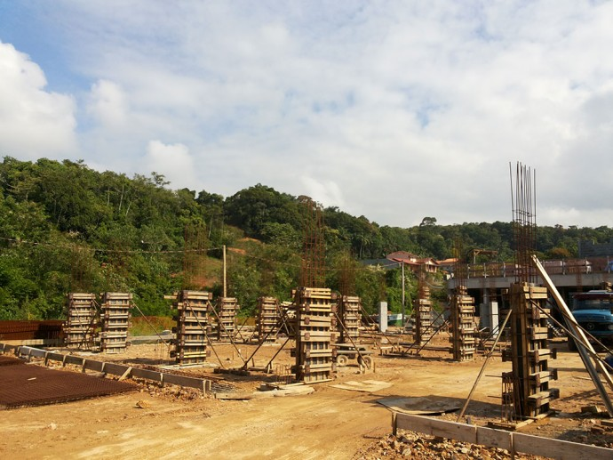 Fundações para execução da laje da área de lazer