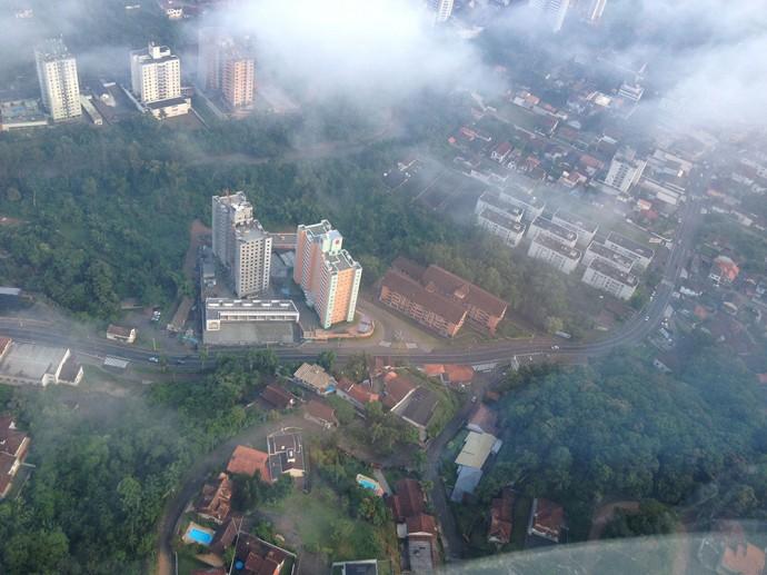 Vista aérea do empreendimento