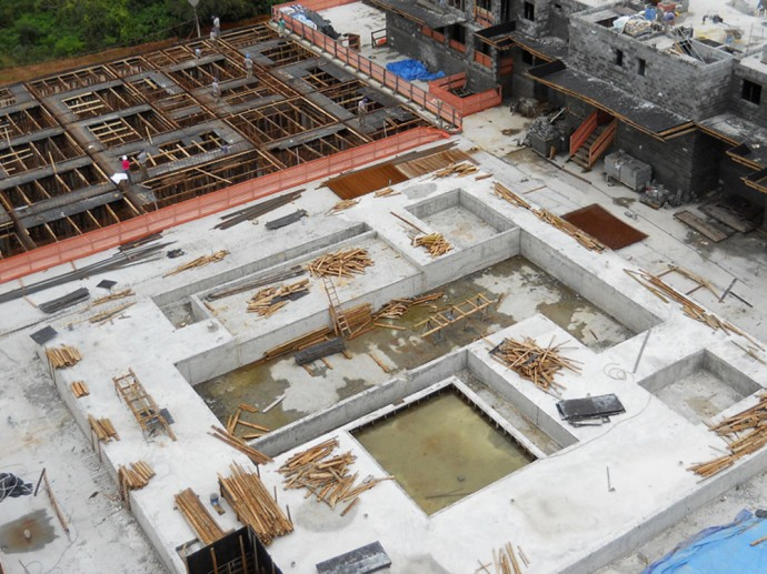 Conclusão da estrutura do complexo das piscinas
